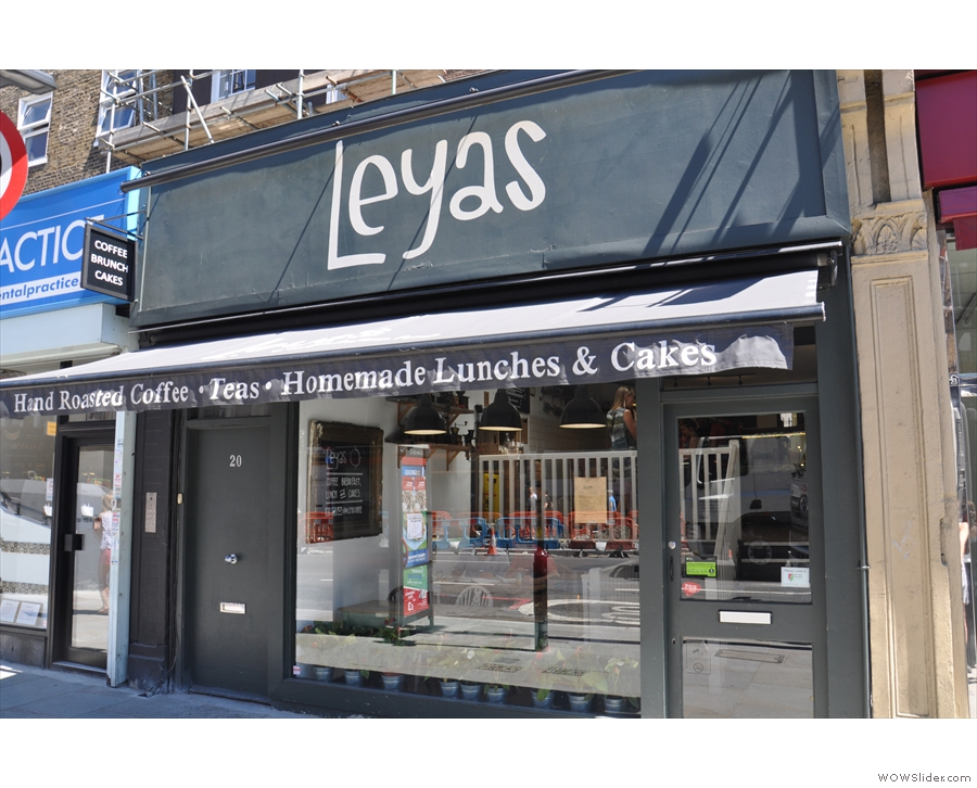 Leyas, on Camden High Street.