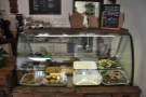 At the other end of the counter, there are salads for lunch. I'd arrived mid-morning...