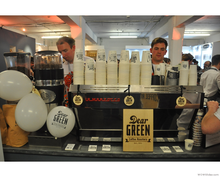 First up is Glasgow's Dear Green Coffee...