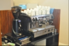 The espresso machine...