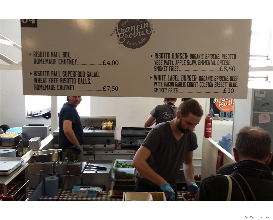 Finally, it wouldn't London Coffee Festival without something to eat from Arancini Brothers.