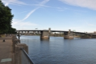 This little section's bounded by two of the many bridges spanning the river: Morrison Bridge