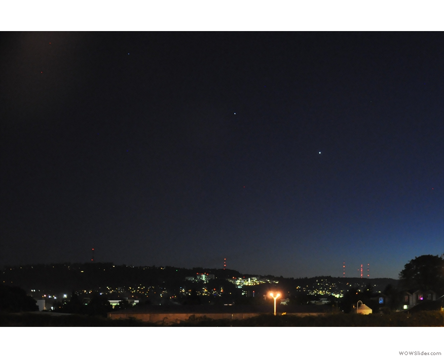 The view at night was pretty good too: Venus and Jupiter over Portland.