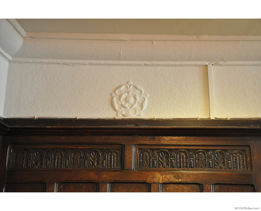... and lots of wooden panelling and embossed roses which may or may not be original!