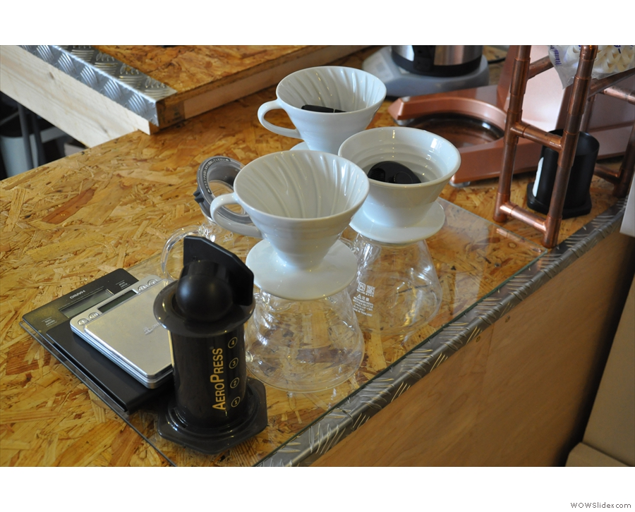 There's also filter coffee through V60, Aeropress or Chemex.