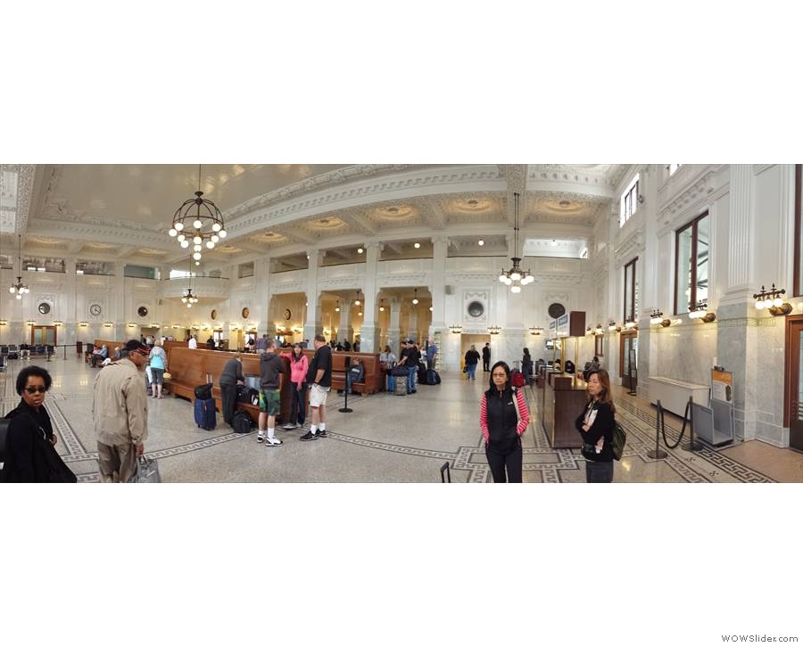 ... and to say hello to Seattle's magnificent King Street Station.