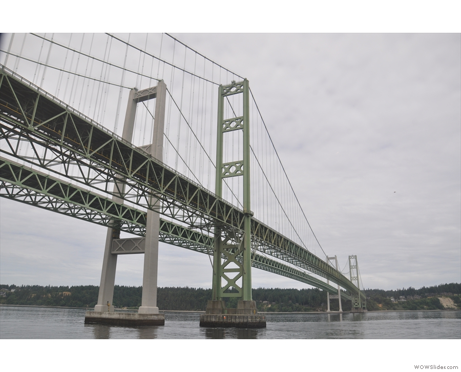 The Tacoma Narrows Bridges seems more appropriate since there appears to be two of them!