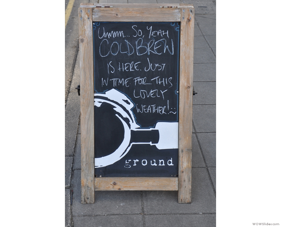 Talking of the weather, the A-board's a bit optimistic; it was blowing a gale while I was there!