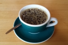 My lovely cup of (bulk-brewed) Kenyan from North Star...