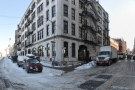 The corner of John St (left) & Jay St (right), home of the Brooklyn Roasting Company.