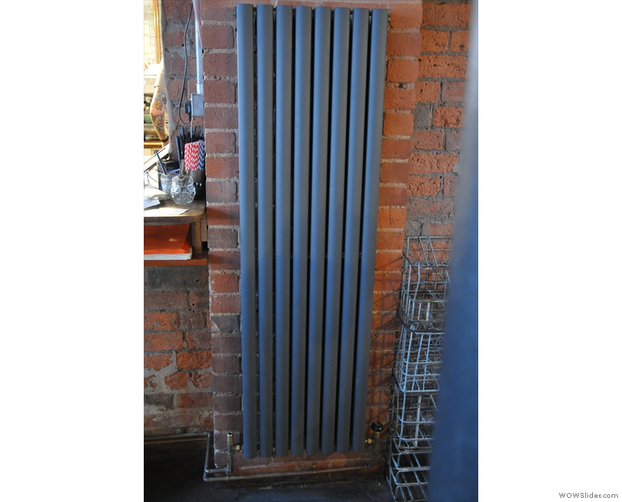 One of those radiators the A-board was on about, cleverly mounted vertically to save space.