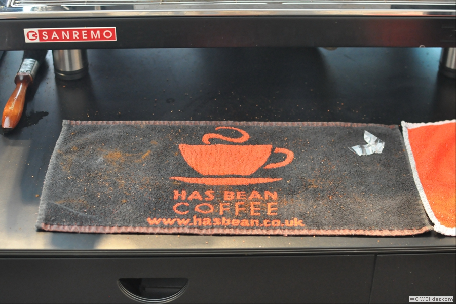 Proudly serving Has Bean Coffee