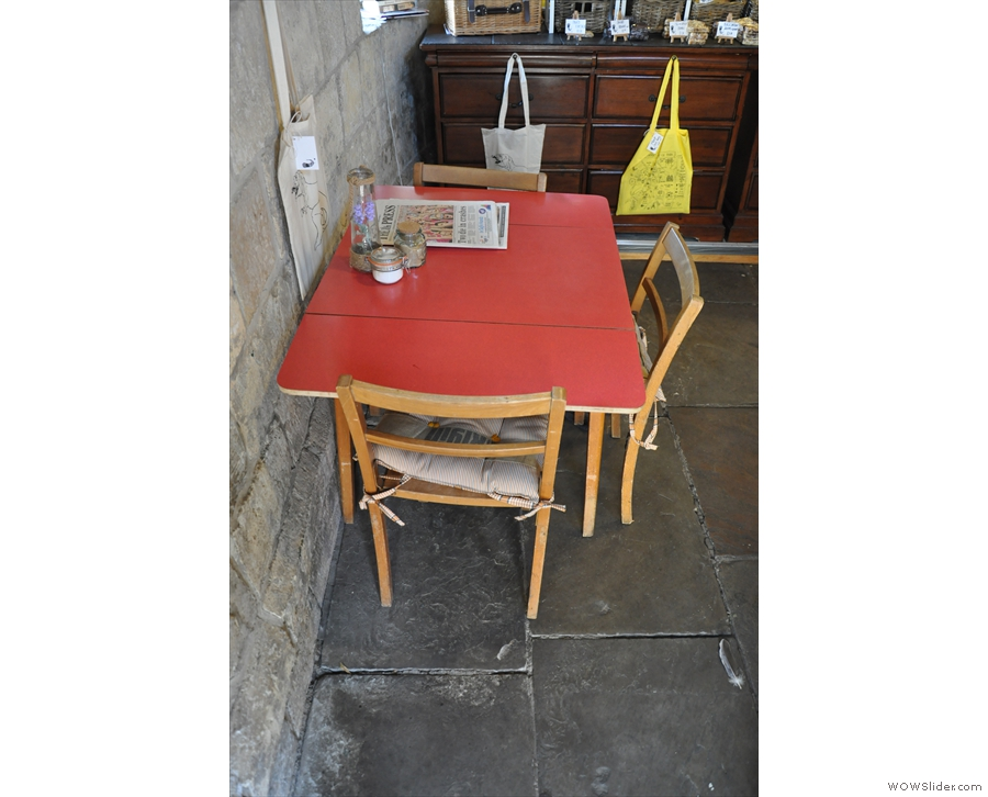 And the red table by the door. My parents used to have one just like that!