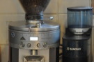 The main grinder. And look, a Rancilio Rocky! I've got one of those!