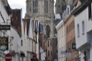In the mean streets of York, under the steely gaze of the towers of York Minster...