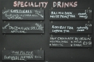 However, Harlequin starts to reveal its true nature with the speciality drinks menu...
