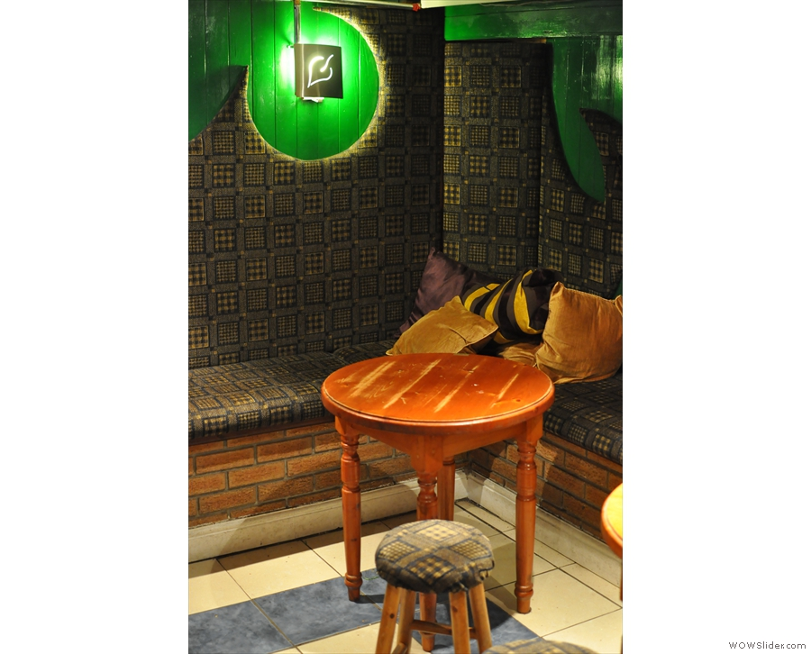 Talking of green... this is what the decor was like back in early 2013...