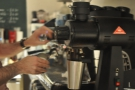The EK-43 is at the heart of a lot of what Joe does. It ground the beans for my flat white.