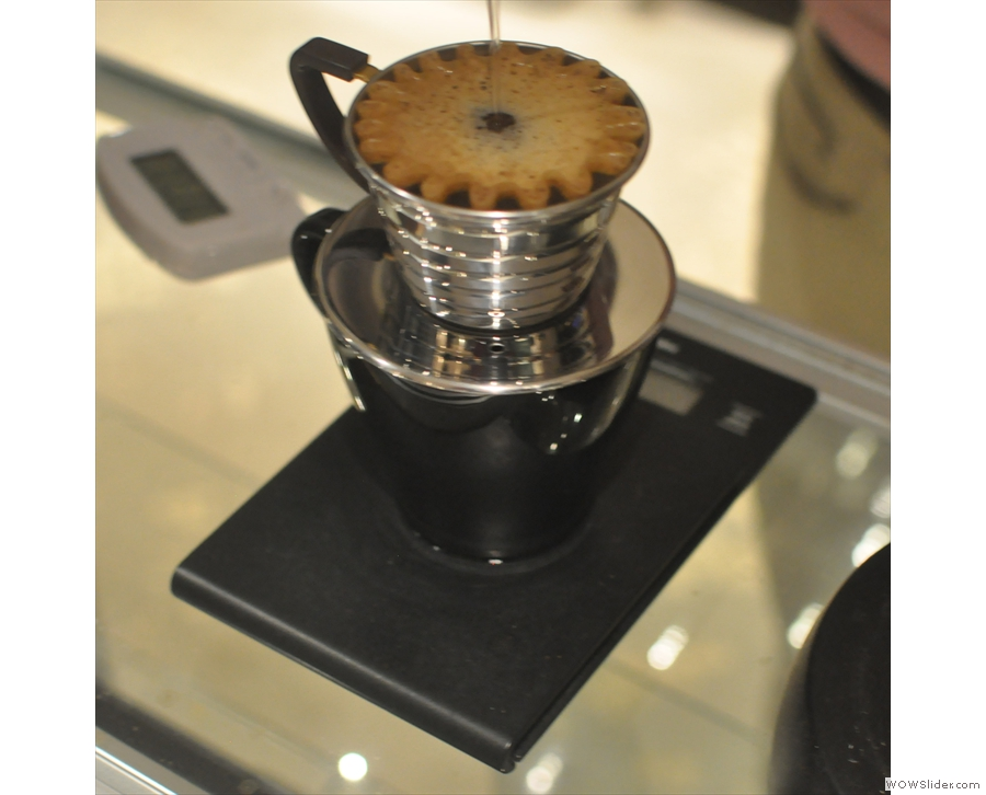Joe would like me to point out that he's since replaced the V60 with these Kalita Wave filters.