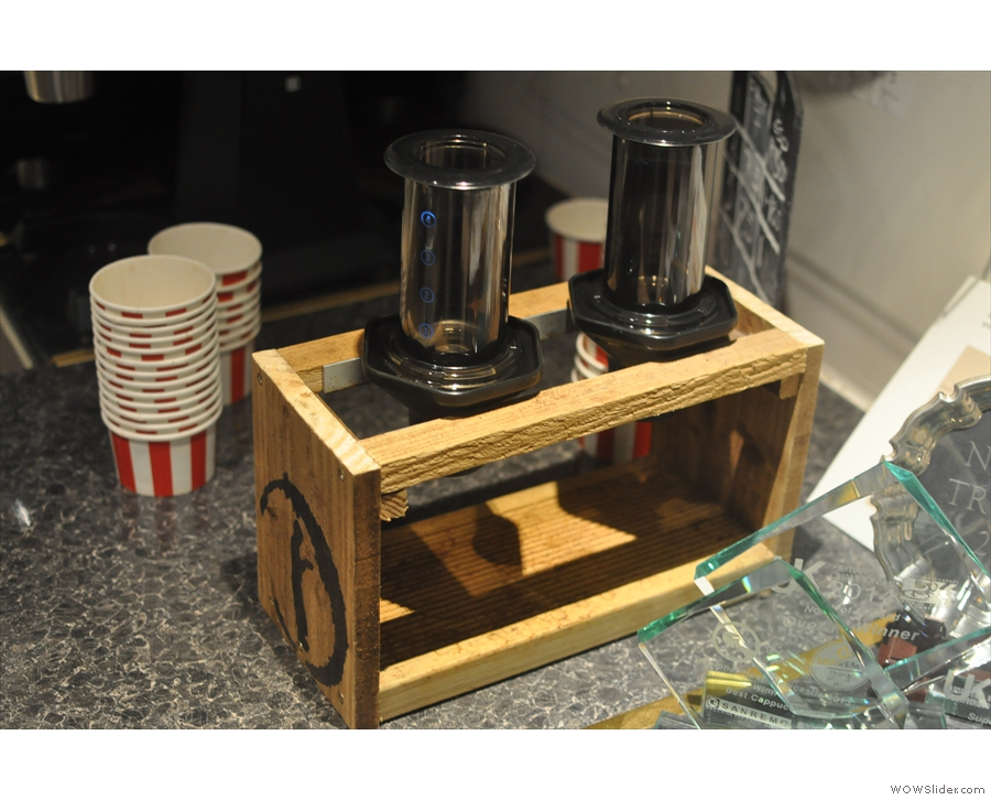 You get a choice of Aeropress, pour-over or Chemex (if you're sharing).