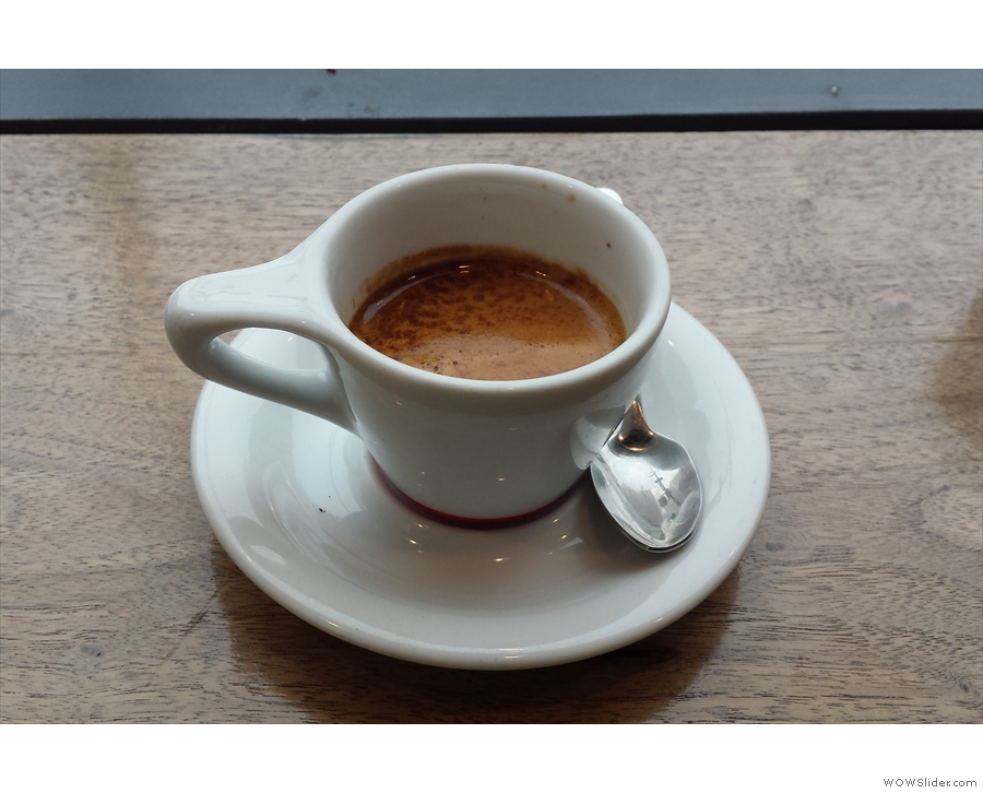 ... and went for a shot of Intelligentsia's legendary Black Cat seasonal espresso instead.