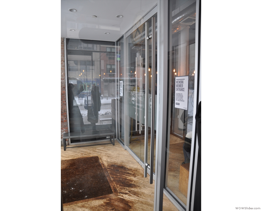 At the far end, another door leads into WeWork's lobby (the original WeWork, by the way).