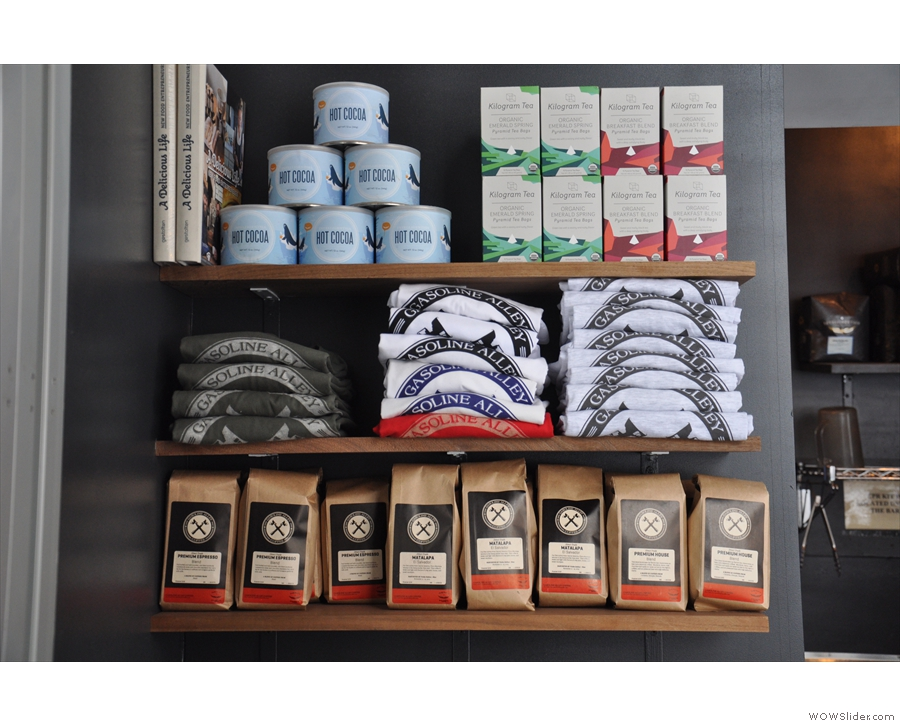 ... with merchandising at the top, coffee in the middle...