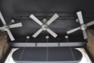 The fans, way, way up in the ceiling, are surplus to requirements though!