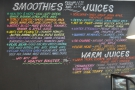 There are also smoothies and juices (from the front of part of Soulshine).