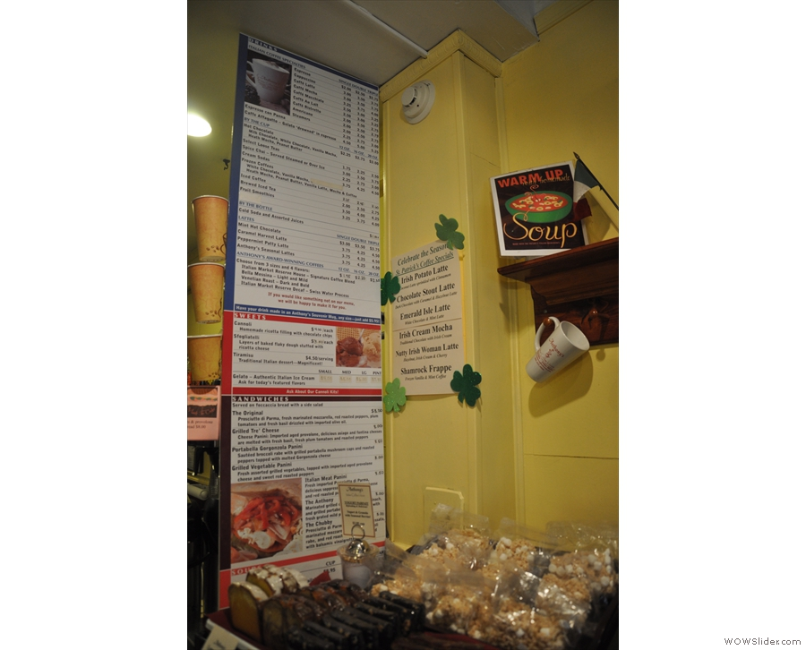 For a small place, Anthony's has a rather large menu...