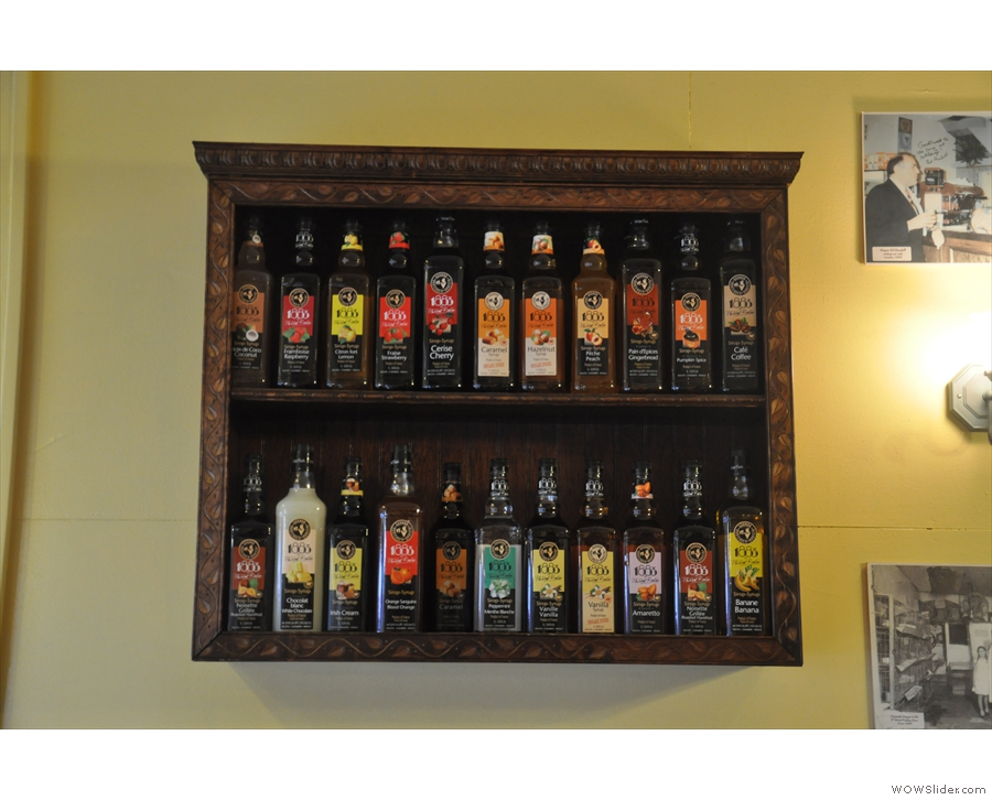 Anthony's is the place to come if you like syrups in your coffee.