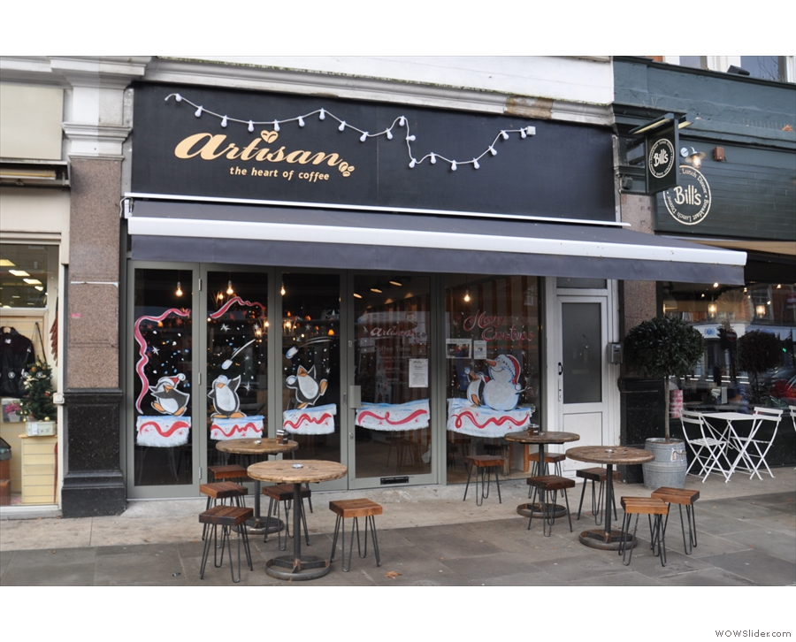 The third (of four) Artisan, in Ealing. Check out the outdoor seating options.