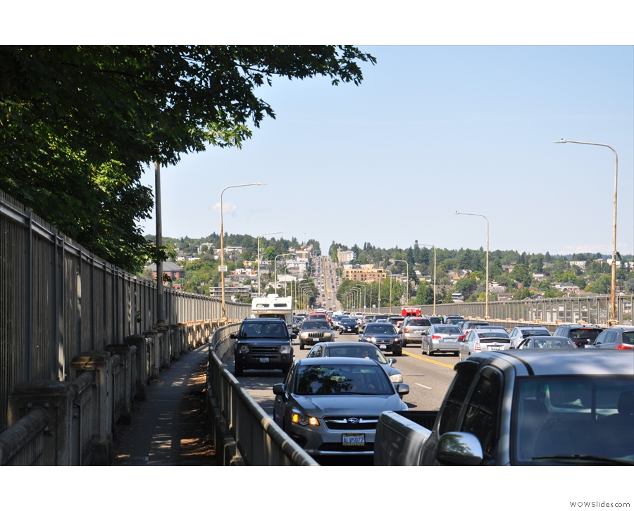 A highlight was when Highway 99 went over the Aurora Bridge...