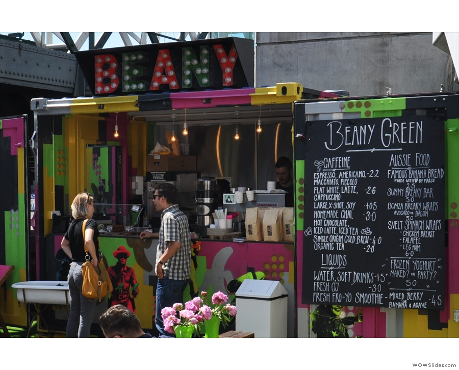 The smallest Beany Green, a shipping container on the South Bank.