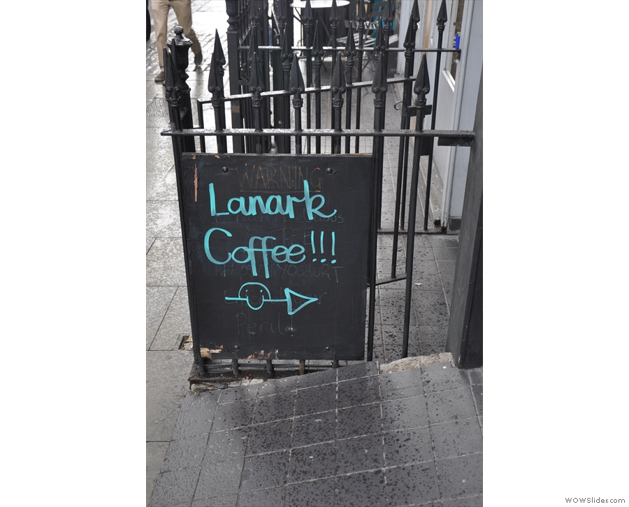 This is perhaps the biggest clue as to what's happened: Lanark Cofee's taken over.