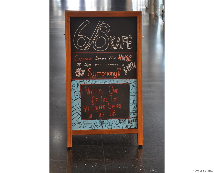 If you come from the other direction, you get this side of the A-board instead...