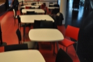 A view of the tables, approaching from the direction of Thinktank...