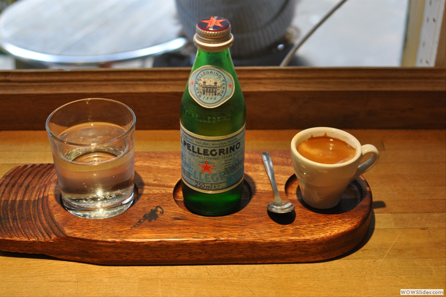My espresso was worth it just for the cute tray...