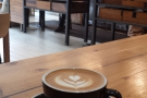 My flat white takes a look around Harvest Canteen.