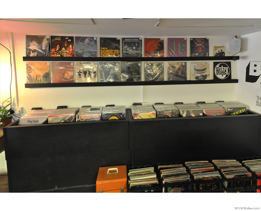 There are shelves/bins of records for sale. Baila will also buy your vinyl.