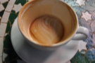 Lasting impressions: the latte art was so well done, it was there at the bottom of the cup...
