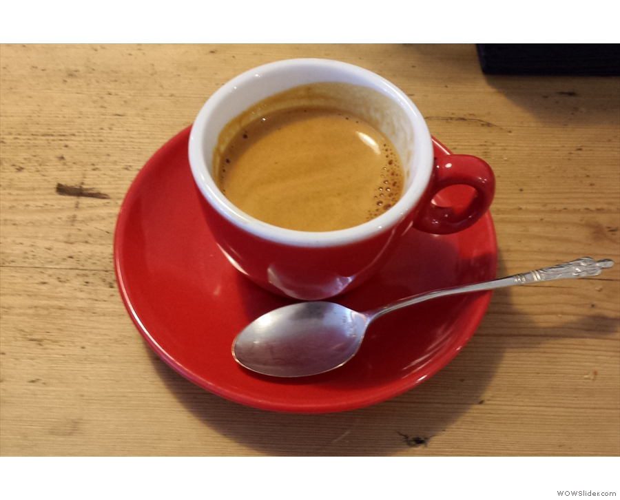 I followed this up with an espresso, Round Hill's Nicaraguan Finca El Cerro.