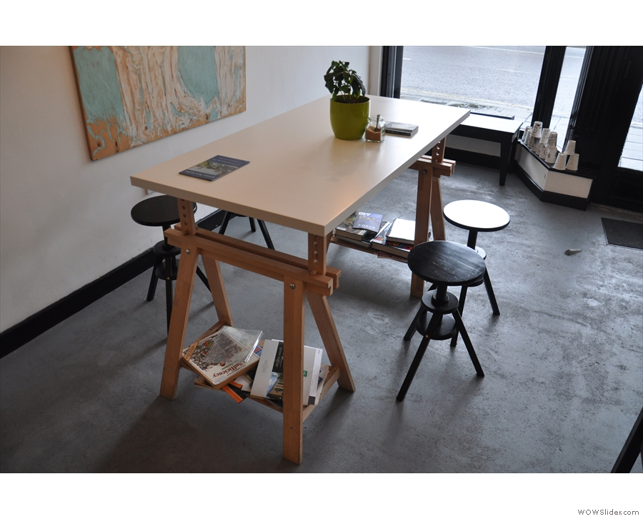 There's also a pair of tables, one on the left and this one, on the right.