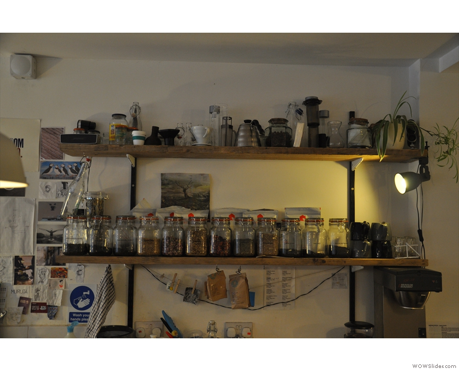 More shelves. With more kit. And more tea.