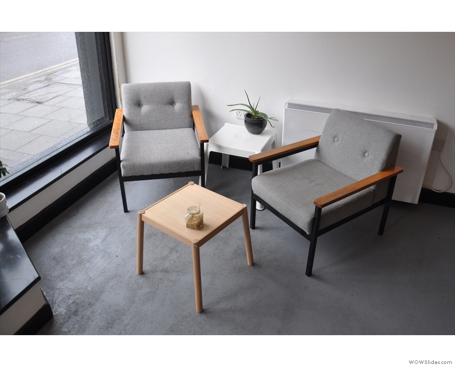 ... and these two comfy chairs in the window to the left.