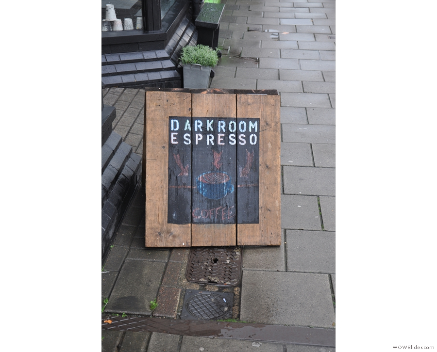 I suspect the A-board looked better before the 20 minutes of torrential rain!
