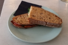 I went for the vegetarian sandwich, toasted.