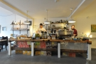 Next, on the left, comes the counter, with co-owner Arthur & barista Steve hard at work.