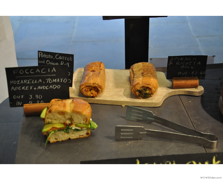Just for balance, there's a good range of savoury goodies as well.