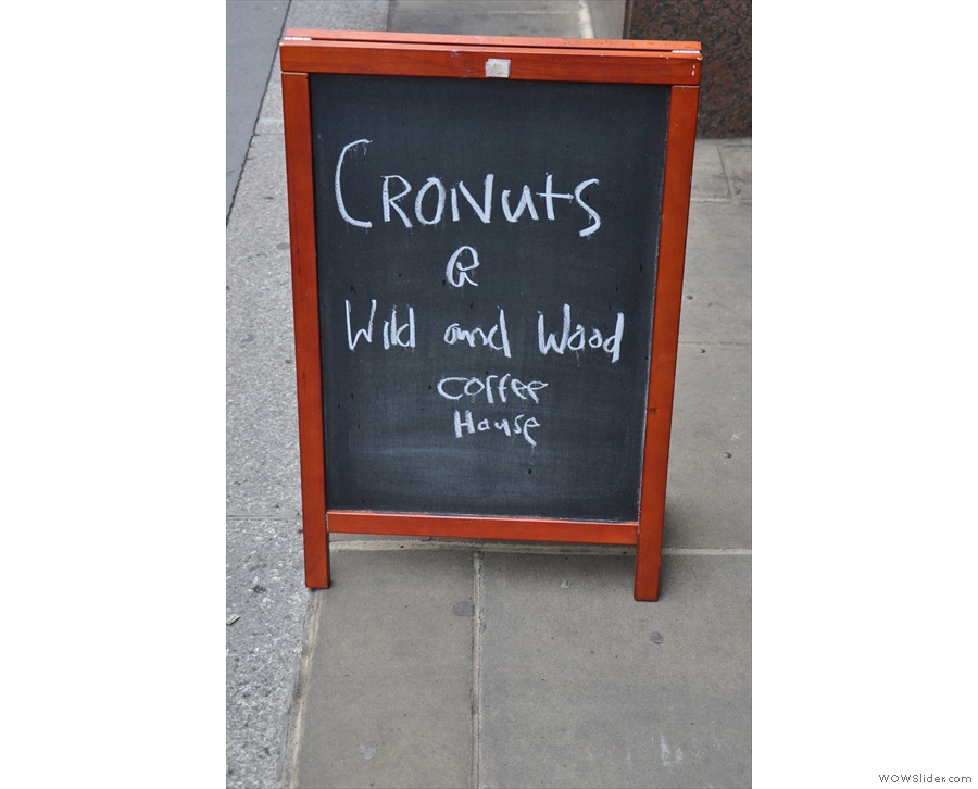 I guess if you're selling Cronuts, you don't need to say anything else on your A-board...